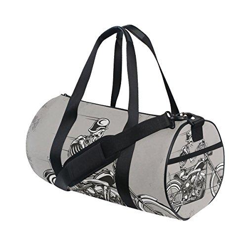 jstel Skull Motorrad Sport Gym Tasche für Frauen und Herren Duffle Reisetasche (Schuhe Kids Skull)