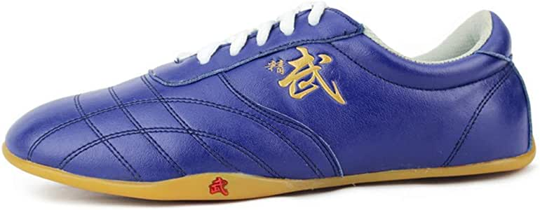 Alomejor Taekwondo Shoes Breathable PU Leather Lightweight for Boxing Kung Fu and Taichi