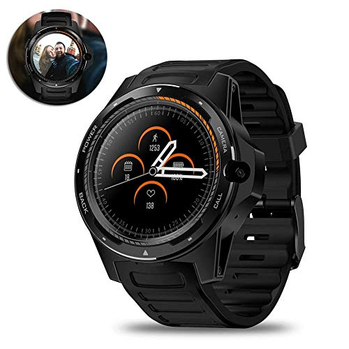 BYBYC Reloj inteligente, reloj Con pantalla táctil Smartwatch, reloj inteligente a prueba de agua Sports Fitness Tracker reloj para teléfono Android Compatible, Negro