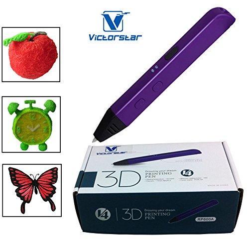 VICTORSTAR @3D Impresión de la pluma -RP600A Portable - Amarillo/ La