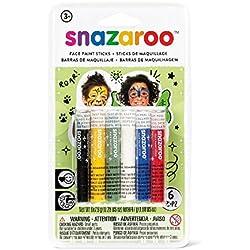 Snazaroo - Barras de pintura facial unisex, set de 6