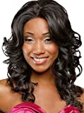 Meylee Pelucas Moda pelo largo y rizado peluca para las mujeres negras