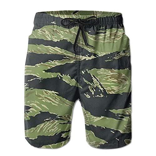 khgkhgfkgfk Tiger Stripe Camo Men's Summer Surf Swim Trunks Beach Shorts Pants Quick Dry with Pockets XX-Large -