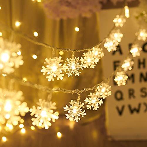 Regenbogen-Licht-Fee-Pavillon-Innenhochzeitsfest Im Freien Weihnachtstag Dekoration Lichter Schneeflocke Schnüre Innen Schlafzimmer, Farbe, 3 Meter 20 Lichter Zu Blinken (Dekorationen Schneeflocke Schnur)