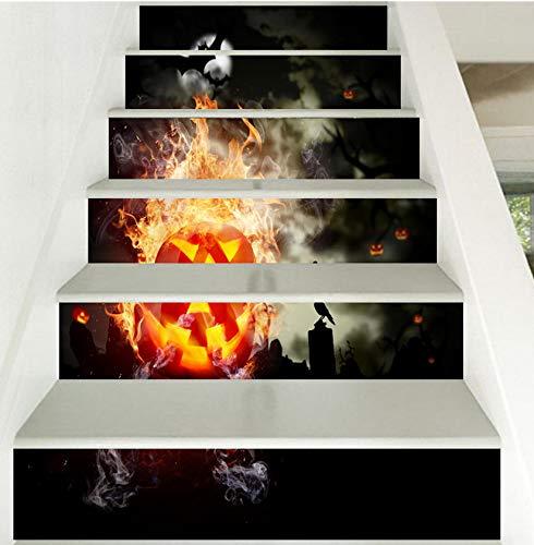 Treppenaufkleber Wandaufkleber Für Halloween Dekoration Treppen Dekoration 3D Aufkleber Home Decor Dropshipping 13PCS