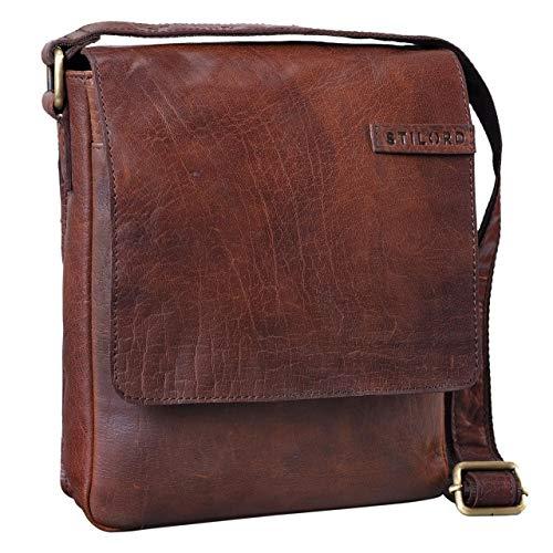 696d9089803112 STILORD 'Dario' Borsello in pelle Borsa a tracolla uomo in cuoio vintage  Piccola borsa messenger tablet e iPad da 10.1 pollici di vera pelle,  Colore:tisco - ...