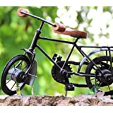DECORVAIZ Royal Look Metal & Wooden Handcrafted Antique Decorative Cycle For Home Décor