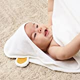 Luxury Hooded Baby Towel Set (White) | Size 90 x 90 cm | Extra Soft Bamboo for Infant, Toddler, Newborn and Kids | Great for Boys and Girls at Bath, Pool and Beach | Better Than Organic Terry Cotton