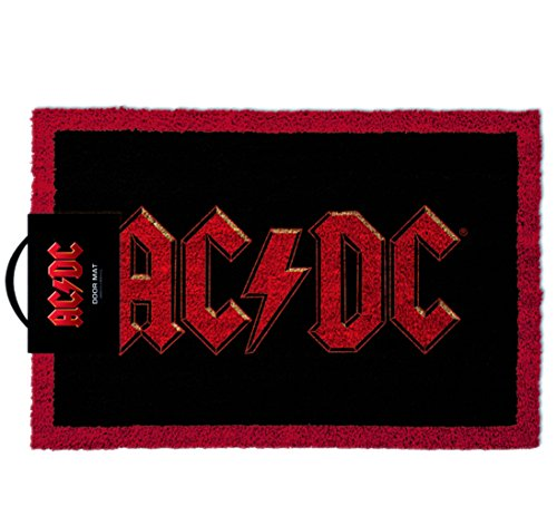 Unisex uomo donna donna donna Gents him Her - ideale Legendary Rock memorabilia - AC/DC emblema Door Floor Welcome Mat - perfetto per Secret Santa regalo Xmas Christmas Birthday valentines Anniversary Gift Idea regalo - One supplied