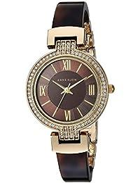 Anne Klein Women's Quartz Metal And Resin Dress Watch Color:Brown (Model: AK/2894BNTO)