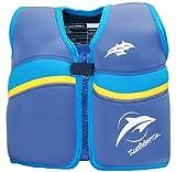 Kinder-Schwimmweste 2J-NA-478 aus Neopren, Nautisch/Blau/Gelb, Größe: 12-16 kg (2-3 Jahre), Brustumfang 56 cm