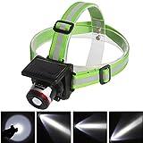 Sidiou Group XPE 5W Spotlight Solar Charging Light Headlamp Headlight UK/EU Plug Flashlight Head Torch Light To Bike Camping Green