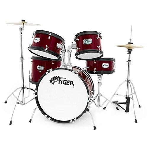 tiger-5-piece-junior-drum-kit-red