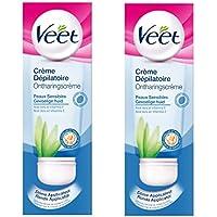 Veet - Epilation Crème Dépilatoire Aisselles Maillot 100 ml - Lot de 2