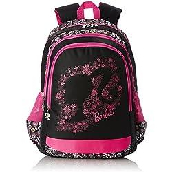 Barbie Nylon Multi-Colour School Bag (Age group :8 yrs +)