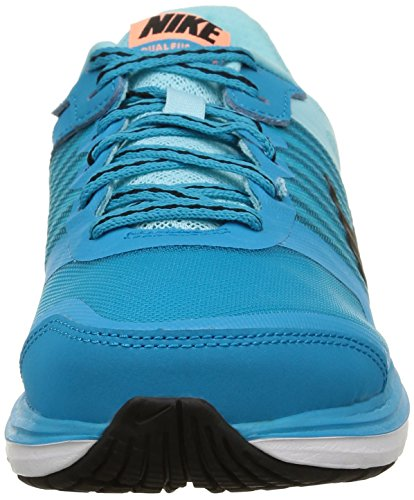 Nike Wmns Dual Fusion X, Scarpe sportive, Donna Blue Lagoon/Black-Cp-Snst Glw