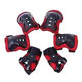 Purebesi Équipement de protection sportive pour enfants, pour protéger genou, coude, poignet, Skateboard, Roller, Vélo, Scooter, Patin (Rouge)