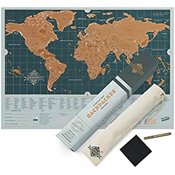 Scratch Map Travel Map - Travel sized personalized Scratch off world ...
