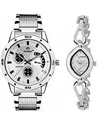ADAMO Designer Analog Silver Dial Unisex's Watch-109-327SM01
