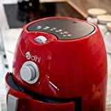 Dihl KA-AFD02-RED Air Fryer Rapid Healthy Frying Hot Grill Roast Low Fat Oil Cooker Oven Food, 4 Litre, 1300 W, Red