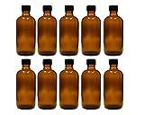 hocz 10 x 100 ml Tropfflasche Glasflaschen mit Tropfeinsatz | Farbe Braunglas ✔ | Füllmenge: 100 ml ✔ | Apothekerflasche | Dosierung von Flüssigkeiten E-Liquids