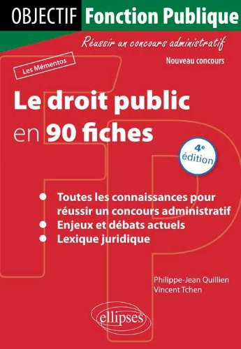 Le Droit Public en 90 Fiches par Philippe-Jean Quillien, Vincent Tchen
