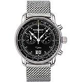 Zeppelin Herren-Armbanduhr 100 Jahre Chronograph Quarz Edelstahl 7690M2