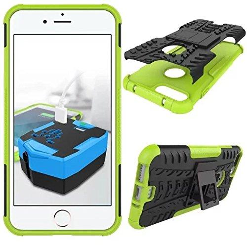 """iPhone 7 plus 5,5 Case schwarz, iPhone 7 Plus-Hülle 4 Ecken, Valenth Tough Dual Layer 2 in 1 Schroffe Gummi Hybrid Hard / Soft-Tropfen Stoßfestes Schutzhülle mit Ständer für iPhone 7 plus 5,5 """" Co5"""