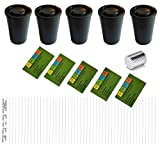 geo-versand 5 x Filmdose mit Magneten+ Logstreifen +Aufkleber, Schwarz, 11522