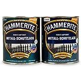 Hammerite Metallschutzlack 0,5l / 2x 250ml Set / Viele Farbtöne zur Auswahl (hellgrau - matt)