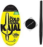 Maybelline New York Colossal Kajal, Black, 0.35g and Maybelline New York Lasting Drama