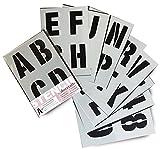 Lettrage Pochoir lettres de l'alphabet/chiffres 100 mm de haut (10cm) Très grande moderne Capitales sur 9 feuilles de 295 x 200 mm