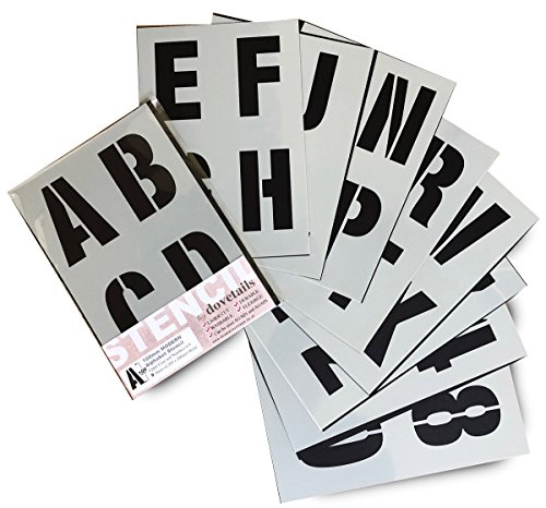 Lowercase Letters Font Letters Height 5 cm Reusable Painting Furniture Stencil QBIX Letter Stencil Set Wall Crafts Alphabet Stencil