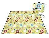 Honeystore Flanell Wasserdichte Yoga Matte Strand Ausflug Picknickdecke Mit Tragegriff 200*150 CM Sonnenblumen