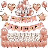 i-Bsel Ballons de Joyeux Anniversaire décorations - Fournitures de fête d'anniversaire pour Les Femmes Ballons de confettis en...