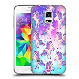 Head Case Designs Blaugruen Einhoerner Und Galaxie Ruckseite Hülle für Samsung Galaxy S5 Mini