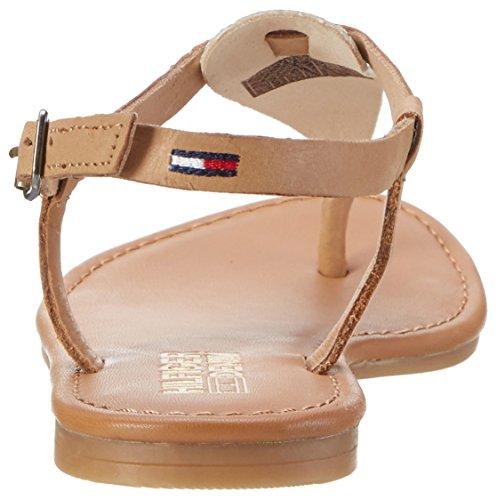 Tommy Hilfiger Damen S1385usy 1c Offene Sandalen mit Keilabsatz Gold (Light Gold-Natural 902)