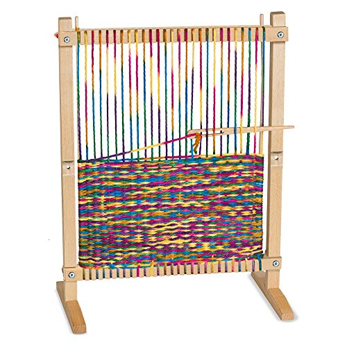 Melissa & Doug Wooden Multi-Craft Weaving Loom (Arts & Crafts, Extra-Large Frame, Develops Creativity and Motor Skills, 41.91 cm H x 57.785 cm W x 24.13 cm L)