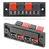 erenLINE® Lautsprecher Einbau-Anschlussterminal Stereo; 4-polig; 4-polige Klemmleiste mit Klipp-Fix Klemmen