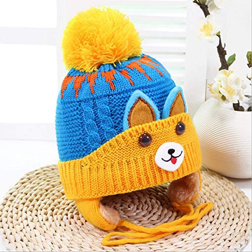 Liuliangmei Baby Girls Boys Toddler Winter Hat Hood Warm Knit Hut Hat Warmer Cap for Kids 1-7 Years,Yellow Boys Knit Winter Hut