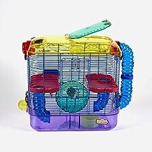 Kaytee CritterTrail-Hábitat de dos pisos para animales pequeños como hámsters, jerbos y ratones