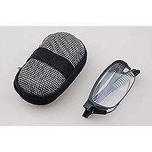 EnzoDate Flexible Mini plegable gafas con estuche, + 1 a +3.5 de lectura gafas de hipermetropía hombres mujeres plegable presbicia, óptica lector de bolsillo