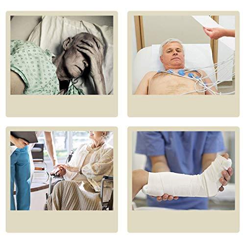 51cV OqAx4L - YXP Elevador de Pacientes hidráulico Plegable con Eslinga de Transferencia, Unidad de Transporte de Pacientes con Asistencia de Soporte, Capacidad de Peso de 400 LB, para Personas discapacitadas