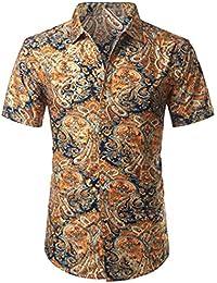 04408e161 NSSY Camisa de Hombre Camisa de Verano para Hombre para Hombre