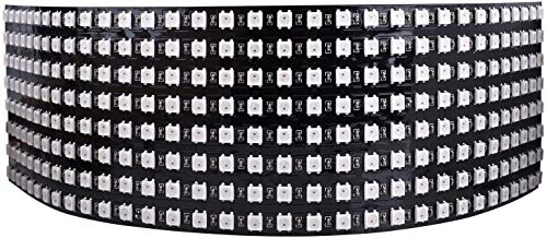 Longruner WS2812B LED Strip Panel Kit Matrix 8x32 256 Pixel Digitales Flexibles Integriertes WS2812B IC LED Licht mit Voller Traumfarbenbeleuchtung DC5V LWS03