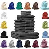 Betz Juego de toallas CLASSIC-PREMIUM 10 piezas, 2 toallas cara 2 toallas de invitados 4 toallas de mano 2 toallas de baño color amarillo
