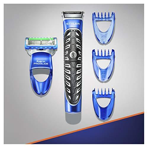 Gillette Fusion ProGlide Styler Rasoio a Batteria con Regolabarba, Regola, Rade e Rifinisce, con 1 Lametta di Ricambio - 2