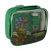 Ninja Turtles - Set completo portamrenda Set composto da: borsa portamerenda, box merenda, borraccia sport