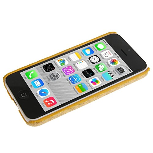 Wkae Case Cover Glitter Powder Skinning Plating Kunststoff-Gehäuse für iPhone 5C ( Color : Golden ) Golden