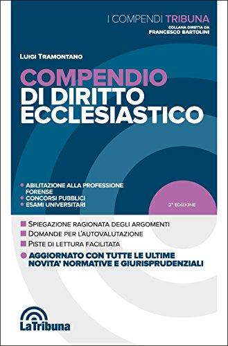 scaricare ebook gratis Compendio di diritto ecclesiastico PDF Epub